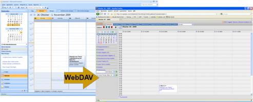Synchronisieren eines Outlook-Kalenders mit xmiCRM über WebDAV